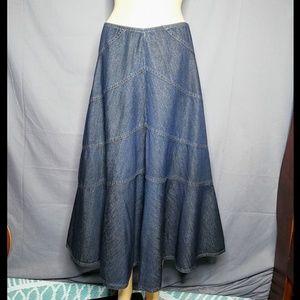 Liz Claiborne Denim Full Length Skirt